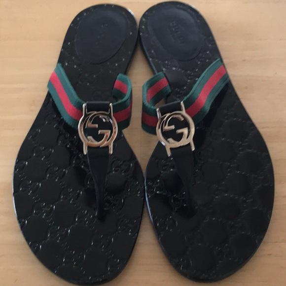 6d7549910 Gucci Shoes - Gucci GG THONG SANDALS 💚❤ 💚
